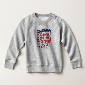 Inspiring Home of the Free Veterans Day Sweatshirt