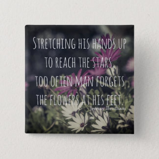 Inspiring Jeremy Bentham Quote 2 Inch Square Button