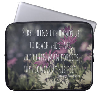 Inspiring Jeremy Bentham Quote Laptop Sleeve