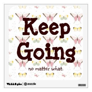 Inspiring Keep Going Butterfly Wall Decal