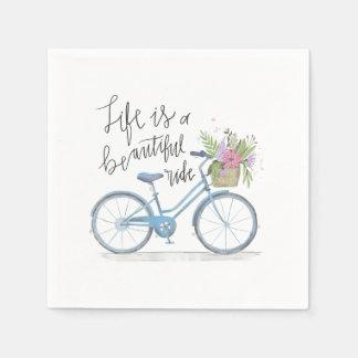 Inspiring Life is a Beautiful Ride | Napkin Paper Napkin