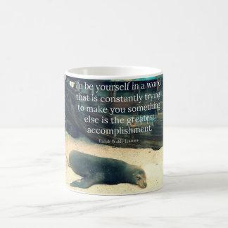 Inspiring Life quote beach theme Coffee Mug