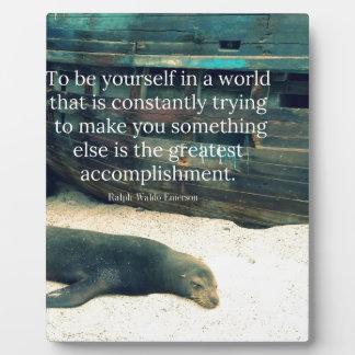 Inspiring Life quote beach theme Plaque