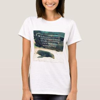 Inspiring Life quote beach theme T-Shirt