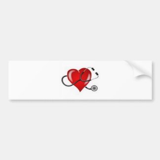 Inspiring Love Doctor Heart design Bumper Sticker