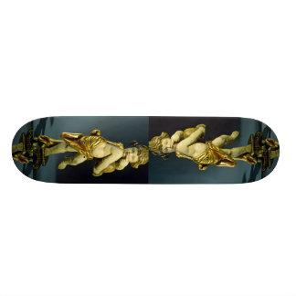 Inspiring Marble sculpture of a kid Skate Decks