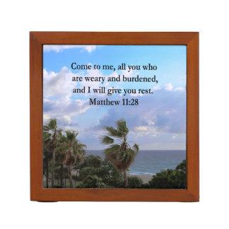 INSPIRING MATTHEW 11:28 SCRIPTURE DESIGN PENCIL HOLDER