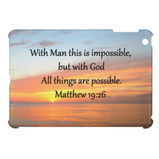 INSPIRING MATTHEW 19:26 SUNRISE DESIGN iPad MINI COVER