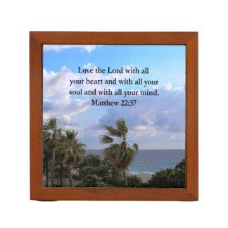 INSPIRING MATTHEW 22:37 SCRIPTURE VERSE PENCIL HOLDER