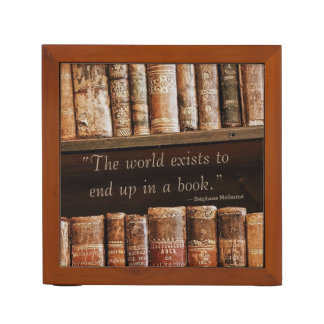 Inspiring Old Book Quote Pencil Holder
