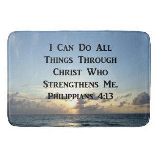 INSPIRING PHILIPPIANS 4:13 BIBLE VERSE BATH MAT