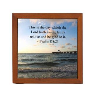 INSPIRING PSALM 118:24 VERSE DESK ORGANIZERS