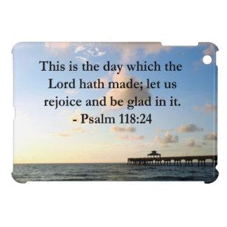 INSPIRING PSALM 118:24 VERSE iPad MINI COVERS