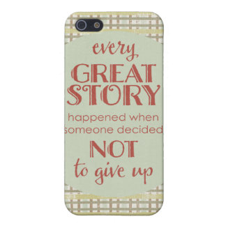 Inspiring Quote Don' Give Up iPhone 5/5S Case