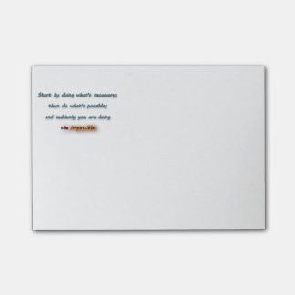 Inspiring Quote - Start by doing what's  … Post-it® Notes