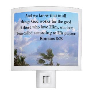 INSPIRING ROMANS 8:28 DESIGN NIGHT LITE