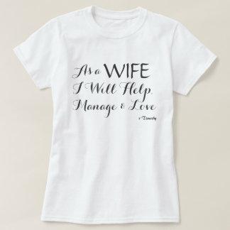 Inspiring Script Bible Verse Wife Bride Love T-Shirt