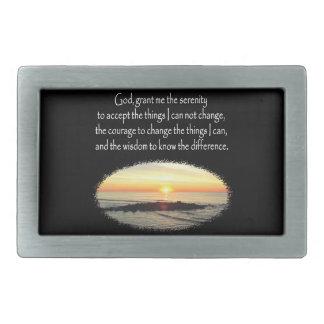 INSPIRING SUNRISE SERENITY PRAYER DESIGN BELT BUCKLES