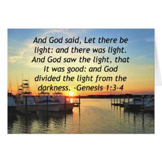 INSPIRING SUNSET GENESIS 1:3 PHOTO DESIGN CARD
