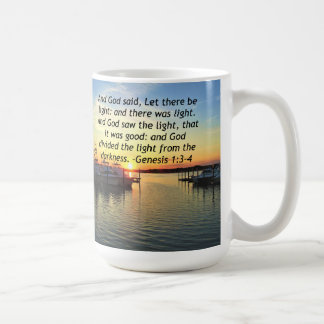 INSPIRING SUNSET GENESIS 1:3 PHOTO DESIGN COFFEE MUG
