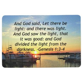 INSPIRING SUNSET GENESIS 1:3 PHOTO DESIGN FLOOR MAT