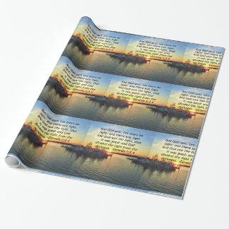 INSPIRING SUNSET GENESIS 1:3 PHOTO DESIGN WRAPPING PAPER