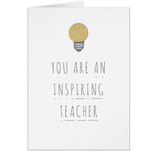 Inspiring Teacher Phonics Greeting Card