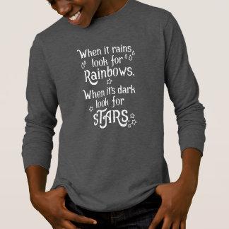 Inspiring When it Rains and Dark | Sleeve Shirt