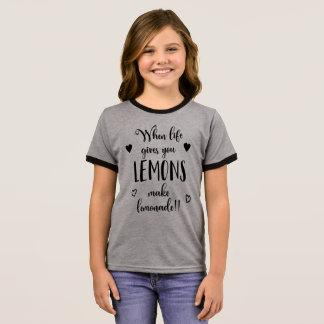 Inspiring When Life Gives You Lemons Ringer Shirt