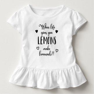 Inspiring When Life Gives You Lemons   Ruffle Tee