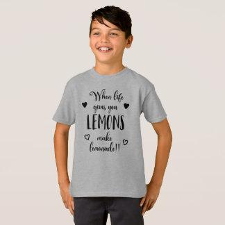 Inspiring When Life Gives You Lemons Tagless Shirt