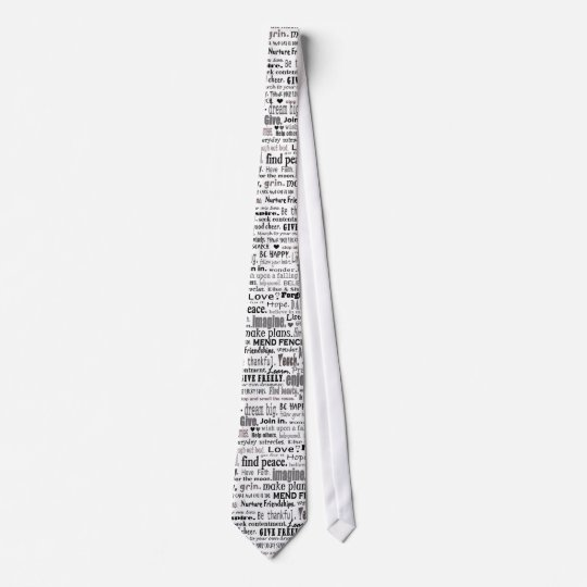 inspiring words tie collage
