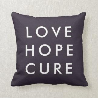 Instagram 9 Photo Love Hope Cure Purple Pillow