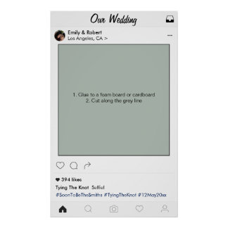 Instagram Frame Wedding Party Prop Photo Booth Poster