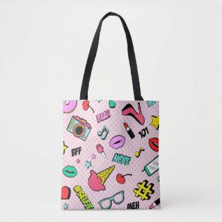 Instagram Girl Emoji All-Over-Print Tote Bag
