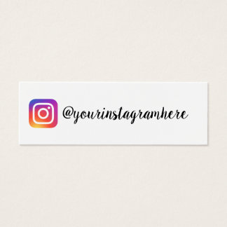 instagram gradient trendy modern business card