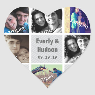 Instagram Heart Shape Wedding Photo Stickers