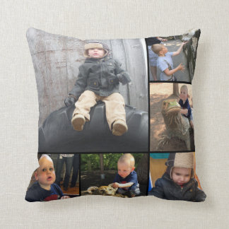 Instagram Modern Collage 12 of Your Photos Throw Pillow