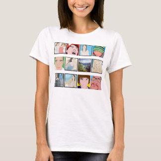 Instagram Mosaic Photo Personalized Ladies Apparel T-Shirt