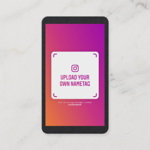 Instagram nametag photo modern social media kraft calling card