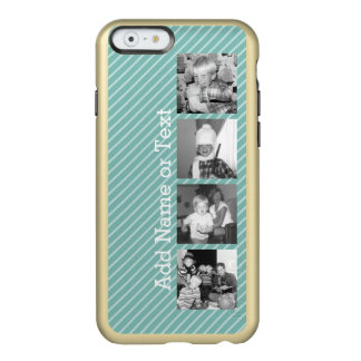 Instagram Photo Collage 4 pictures - blue stripes Incipio Feather® Shine iPhone 6 Case