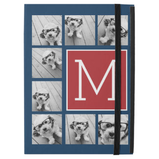 Instagram Photo Collage Monograms - Red Navy