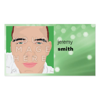 Instagram Photo Green Glow Headshot Business Card