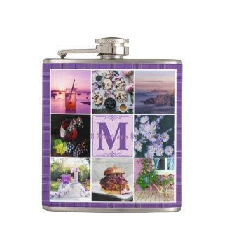 Instagram Photo Grid Purple Plaid Spring Hygge Flask