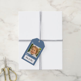Instagram Photo Hanukkah Gift Tag Striped Pack Of Gift Tags