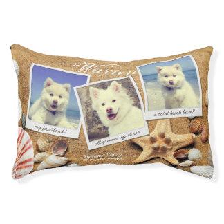Instagram Photo Template Summer Beach Seashells Small Dog Bed