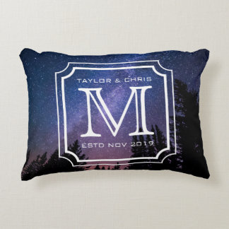 Instagram Photos Monogram Beautiful Landscapes Decorative Pillow
