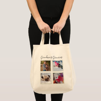 Instagram Photos Personalized Canvas Grocery Tote Bag