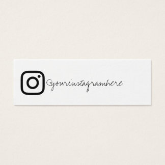 instagram social media black white business card