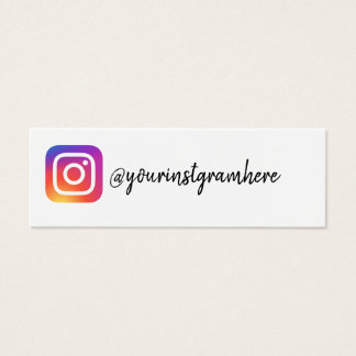 instagram social media modern trendy business card